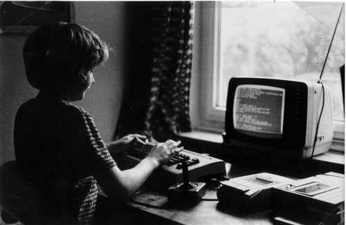 Axel with C64, ca. 1980